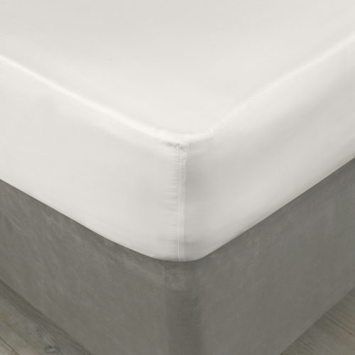 Valencia White Fitted Sheet