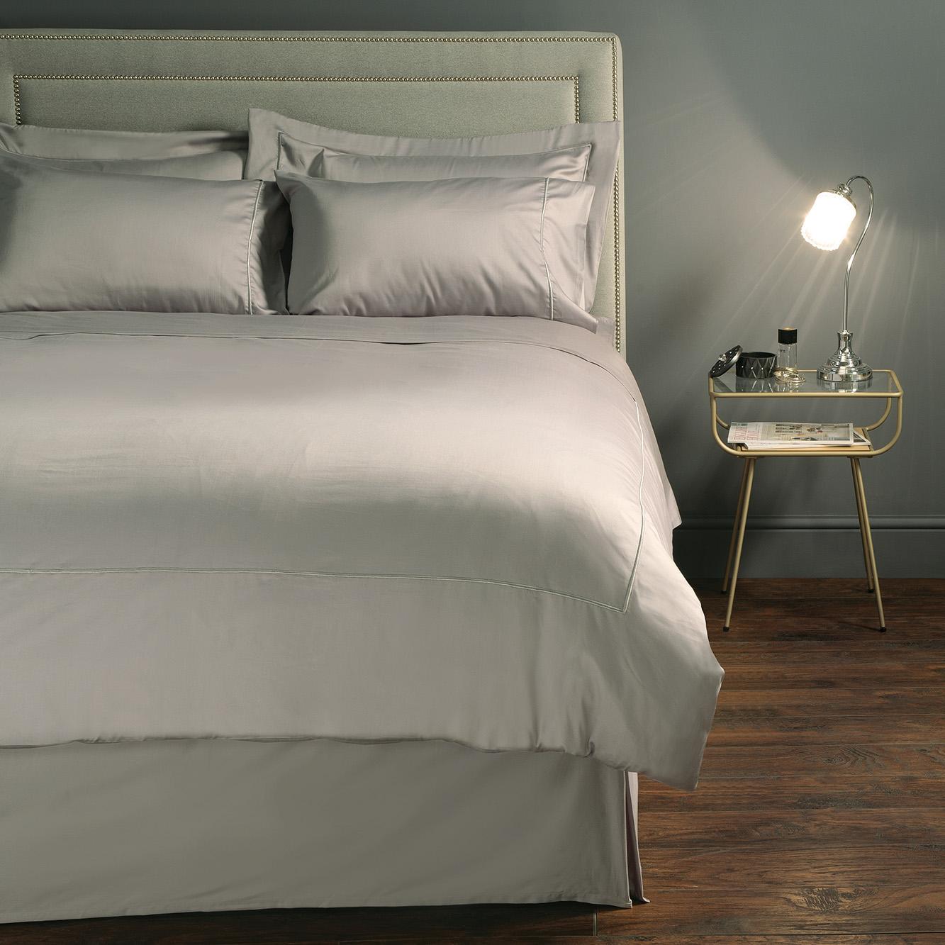Monaco Pewter Duvet Set