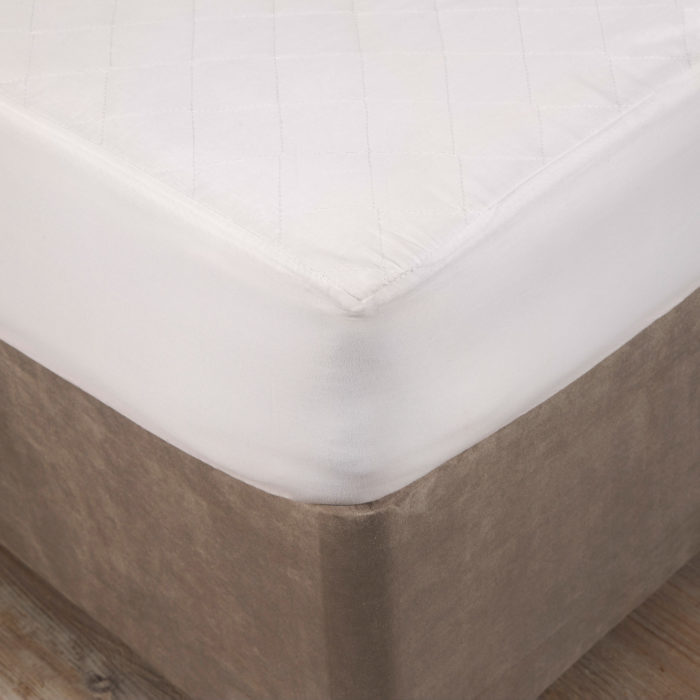 POLY COTTON QUILTED MATRESS MATTRESS PROTECTOR FITTED BED COVER ALL SIZES