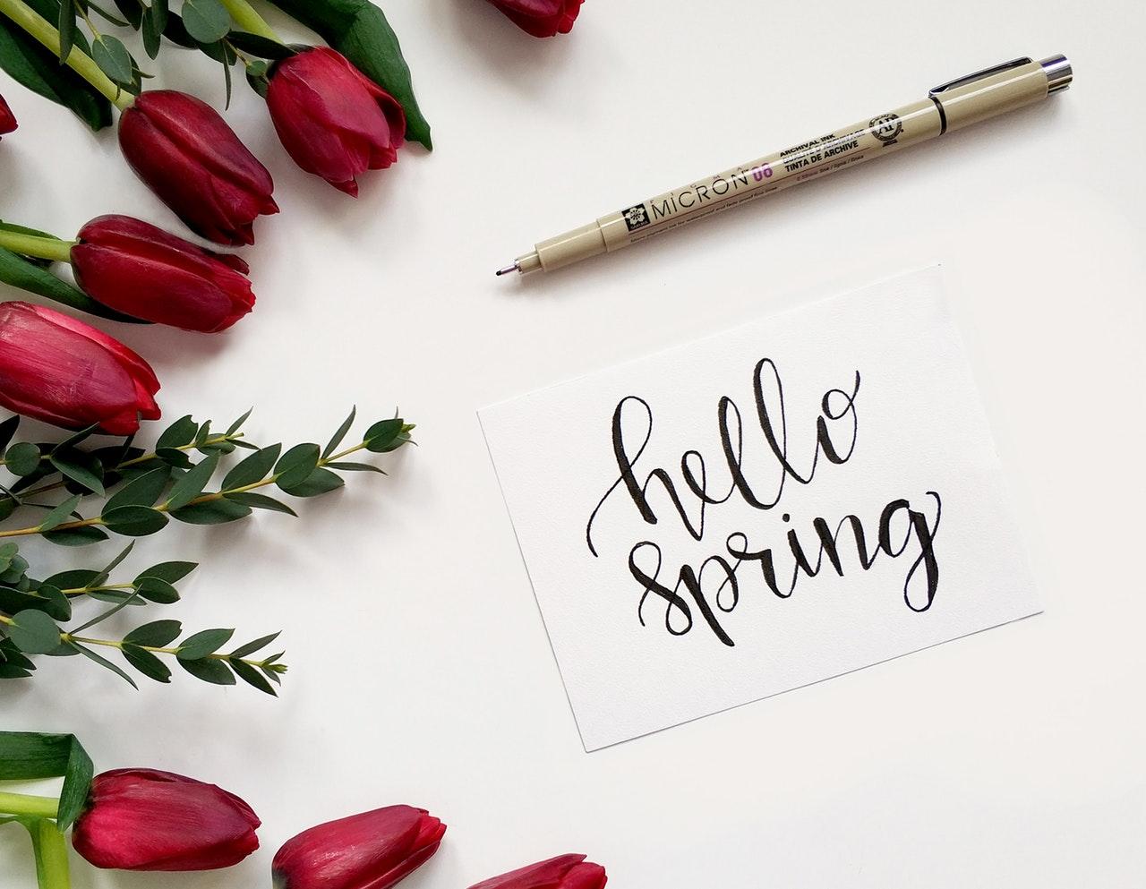 Springtime bedding
